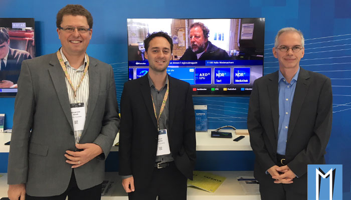 Inaris HbbTV on Android TV at Medientage Munich
