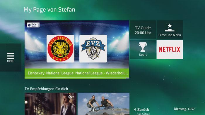 quickline tv MyPage