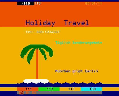 "Level 2.5 demo page ""Holiday Travel"" by Siemens"